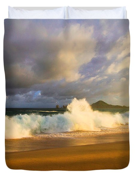 Duvet Cover featuring the photograph Summer Storm by Eti Reid
