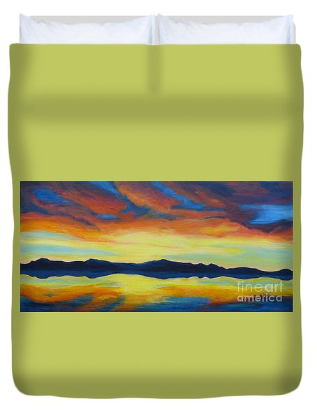Summer Storms Duvet Cover by Alicia Fowler