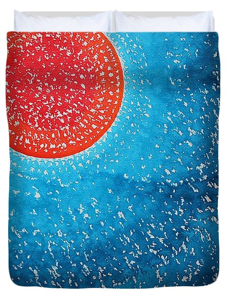 Summer Sun Original Painting Duvet Cover by Sol Luckman