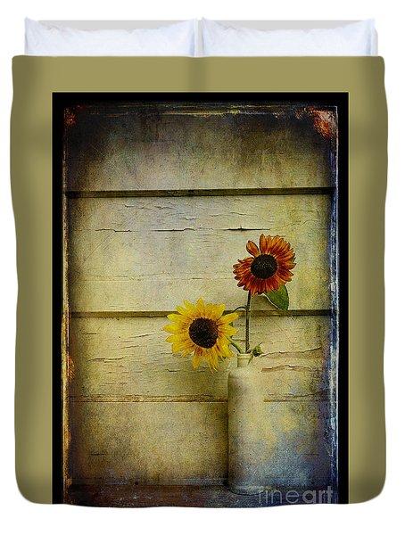 Summer Sunflowers Duvet Cover by Sari Sauls
