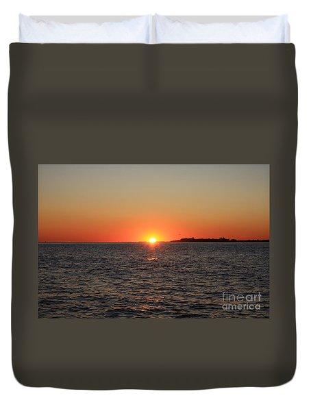 Summer Sunset Duvet Cover by John Telfer