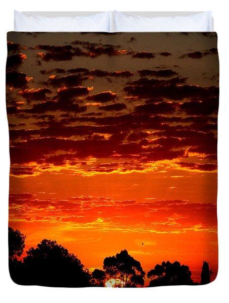 Summer Sunset Duvet Cover by Mark Blauhoefer