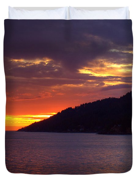 Summer Sunset Duvet Cover by Randy Hall
