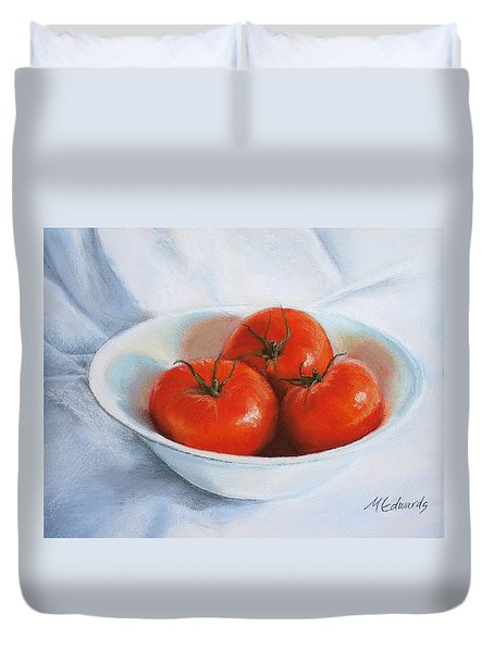 Summer Tomatoes Duvet Cover