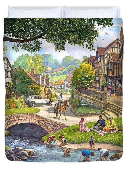 Summer Village Stream 2015 Duvet Cover
