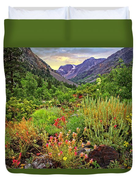 Summer Wildflowers In Lundy Canyon Duvet Cover