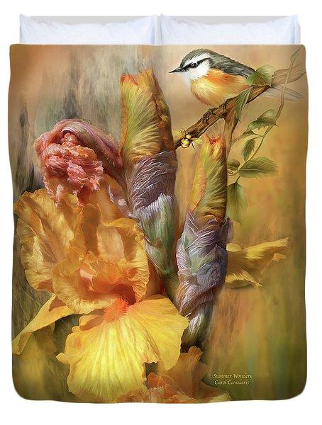 Summer Wonders Duvet Cover by Carol Cavalaris