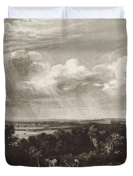 Summerland, Engraved By David Lucas 1802-81 Mezzotint Duvet Cover