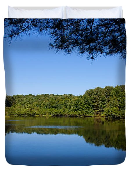 Summers Blue View Duvet Cover by Karol Livote