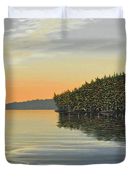 Duvet Cover featuring the painting Summers End by Kenneth M  Kirsch