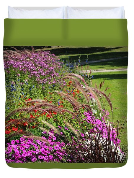 Summer's Garden Duvet Cover