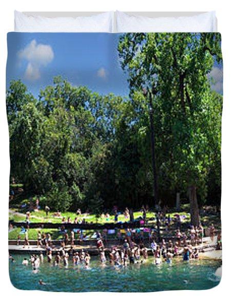 Summertime Barton Springs Panoramic Duvet Cover