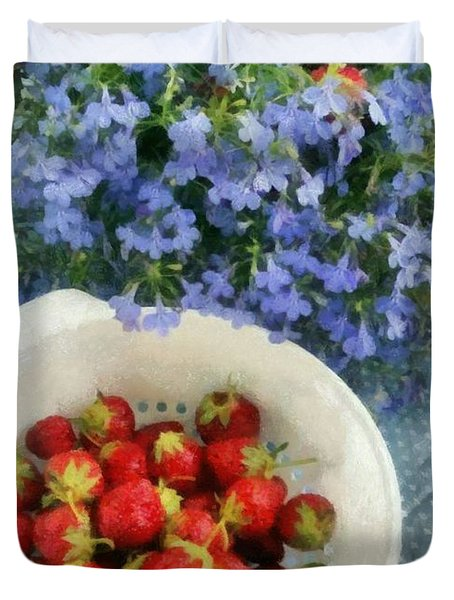 Summertime Table Duvet Cover by Michelle Calkins