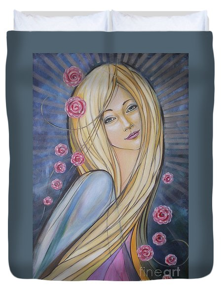 Sun And Roses 081008 Duvet Cover