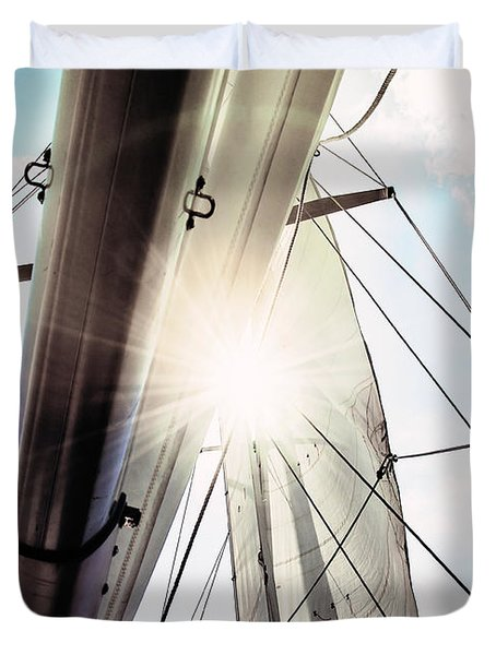 Sun And Sails Duvet Cover