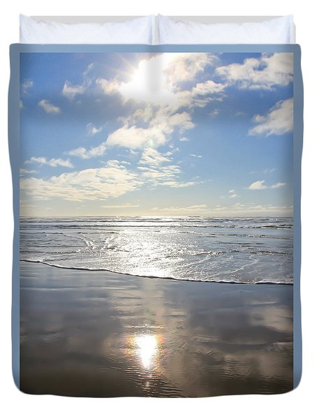 Sun And Sand Duvet Cover by Athena Mckinzie