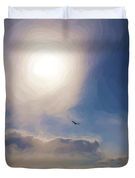 Sun And Skies Duvet Cover