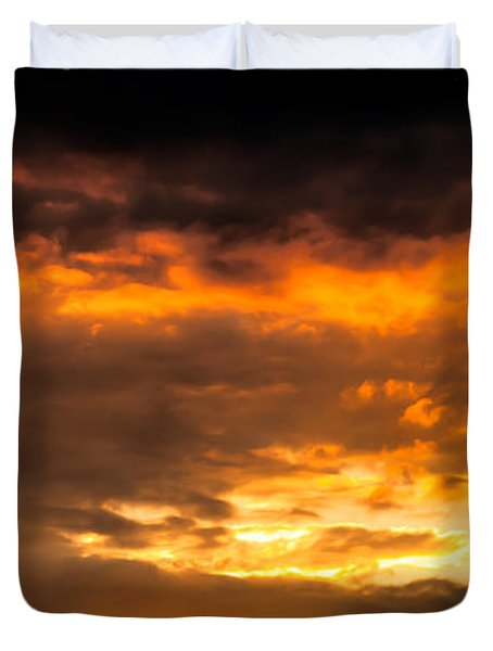Sun Beams And Clouds Duvet Cover by Optical Playground By MP Ray