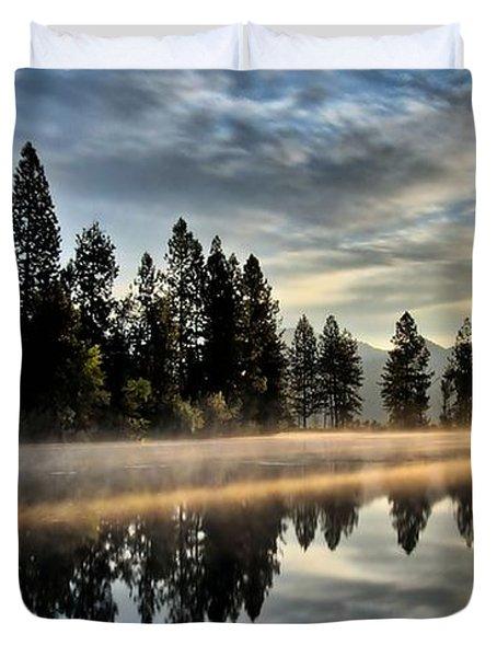 Sun Blessed Pond Duvet Cover
