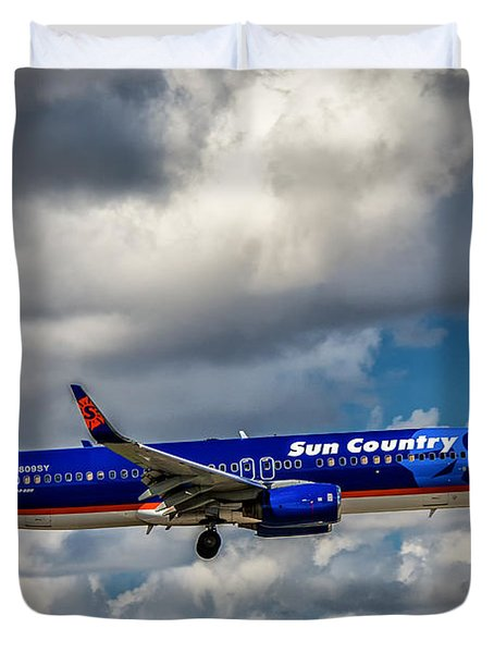 Sun Country Boeing 737 Ng Duvet Cover