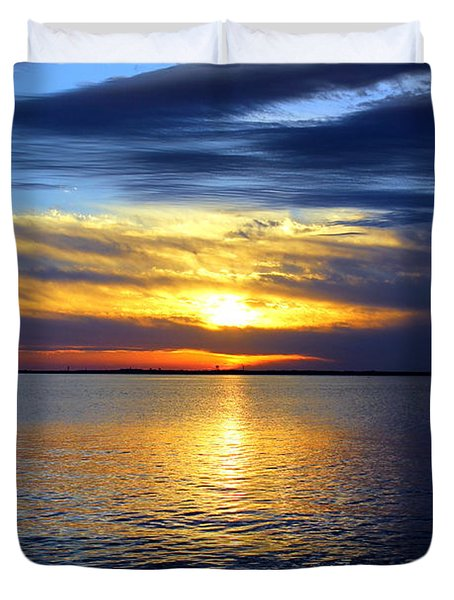 Sun Down South Duvet Cover by Faith Williams