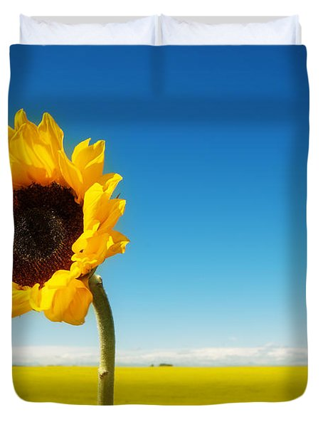Duvet Cover featuring the photograph Sun Drenched Dreams by Lisa Knechtel