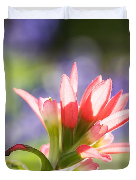 Sun Filled Paintbrush Duvet Cover by Erika Weber