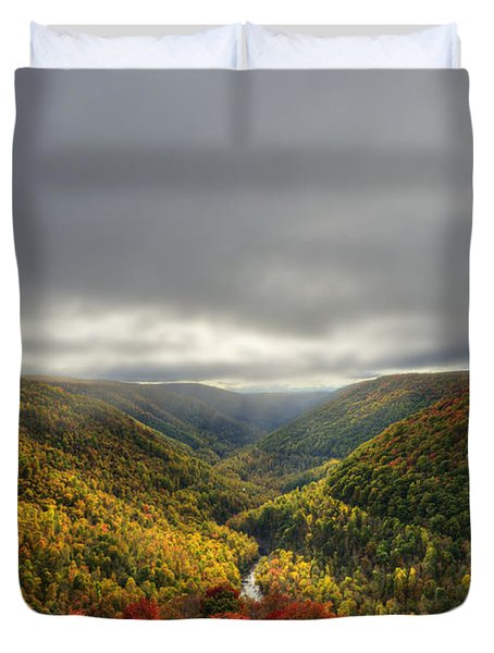 Sun Finding Openings In The Clouds Duvet Cover