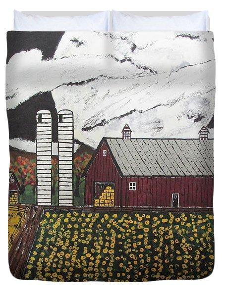 Sun Flower Farm Duvet Cover