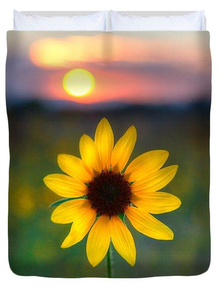 Sun Flower Iv Duvet Cover