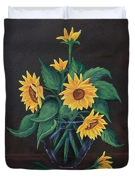 Sun Flowers  Duvet Cover