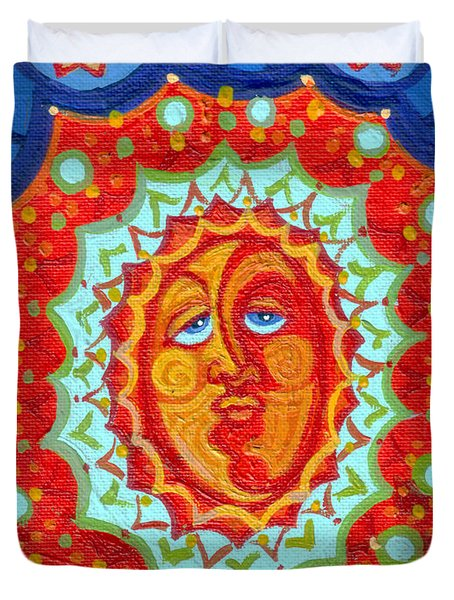 Sun God Duvet Cover by Genevieve Esson