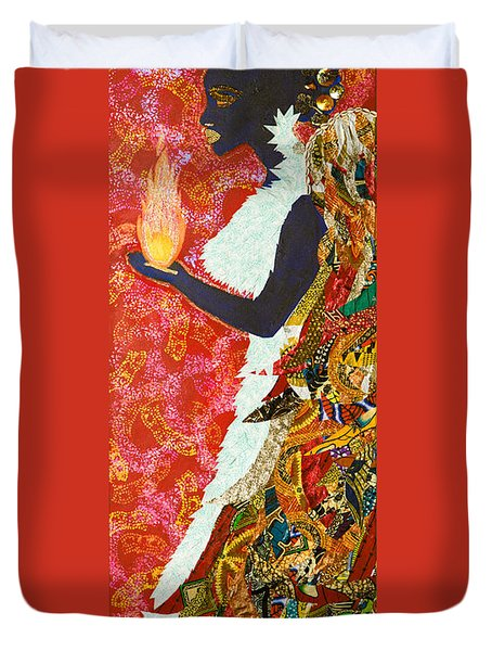 Sun Guardian - The Keeper Of The Universe Duvet Cover by Apanaki Temitayo M