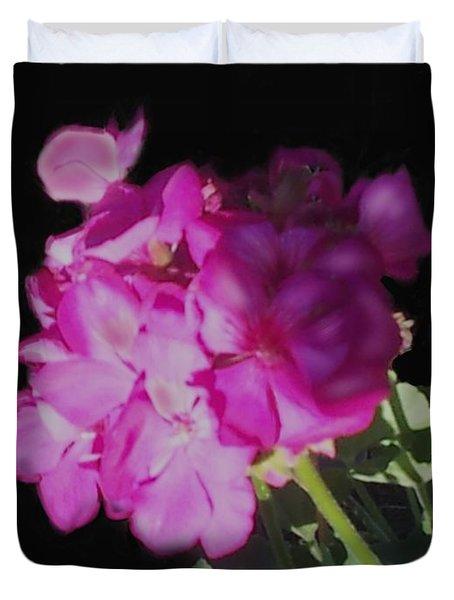 Sun Kissed Geranium  Duvet Cover by Christine Fournier