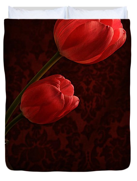 Sun Kissed Tulips Duvet Cover by Darren Fisher