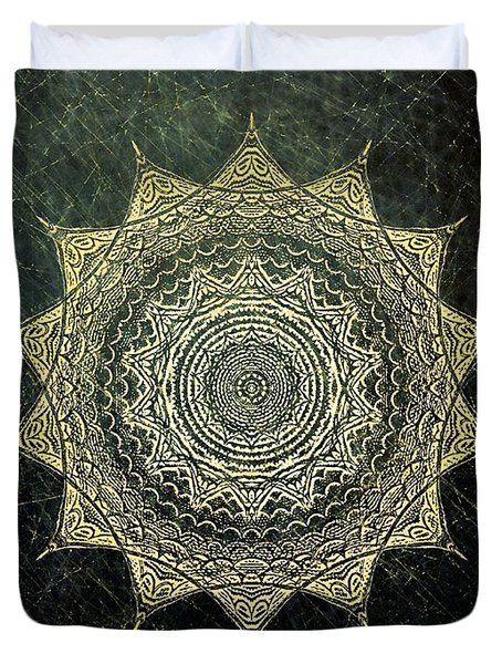 Sun Mandala - Background Variation Duvet Cover