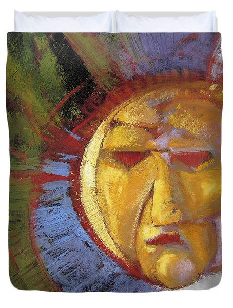 Sun Mask Duvet Cover