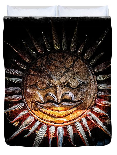 Sun Mask Duvet Cover by Roxy Hurtubise