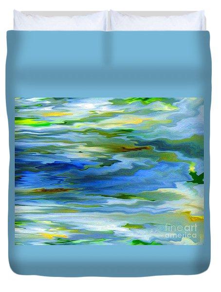Sun Ray Reflection Duvet Cover by Cedric Hampton