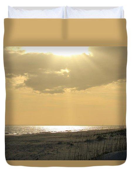 Sun Rays Duvet Cover by Cynthia Guinn