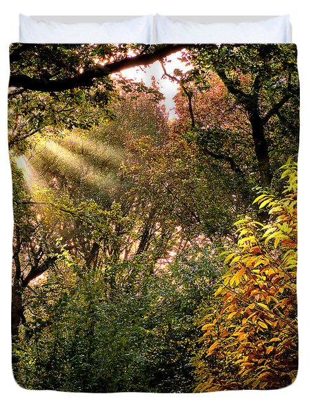 Duvet Cover featuring the photograph Sun Rays by Trevor Chriss