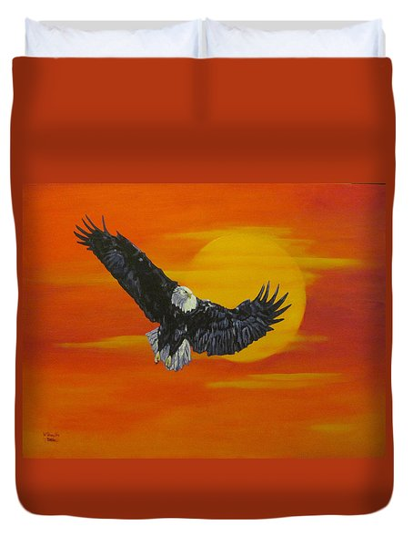 Sun Riser Duvet Cover by Wendy Shoults