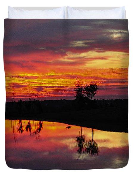 Sun Set At Cowen Creek Duvet Cover