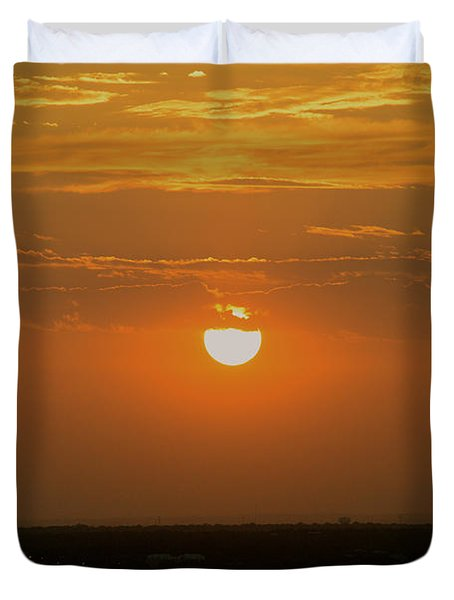 Sun Set Over Sa Duvet Cover by Shawn Marlow
