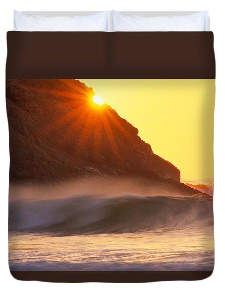 Sun Star Singing Beach Duvet Cover