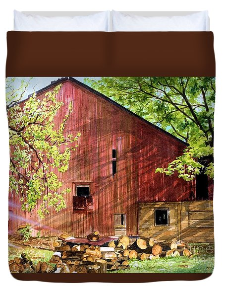 Sun Stroked Duvet Cover by Barbara Jewell