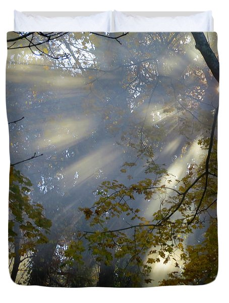 Duvet Cover featuring the photograph Sunbeam Morning by Dianne Cowen