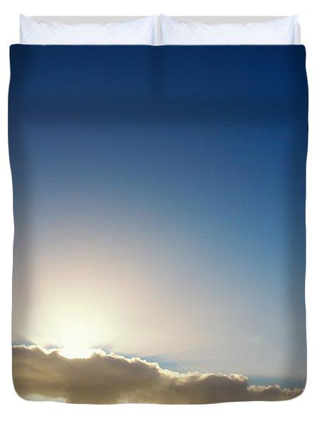 Sunbeams Behind Clouds Duvet Cover
