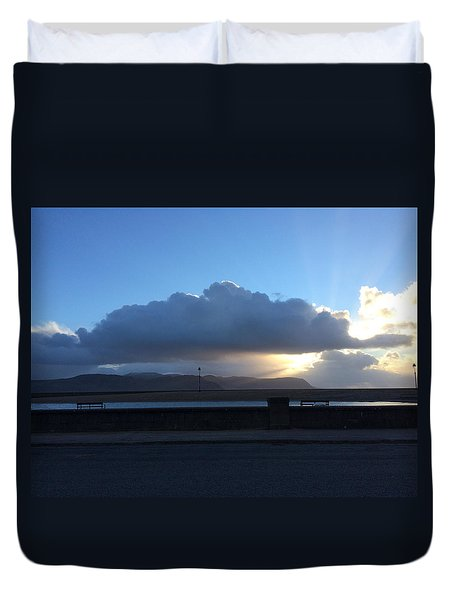 Sunbeams Over Conwy Duvet Cover