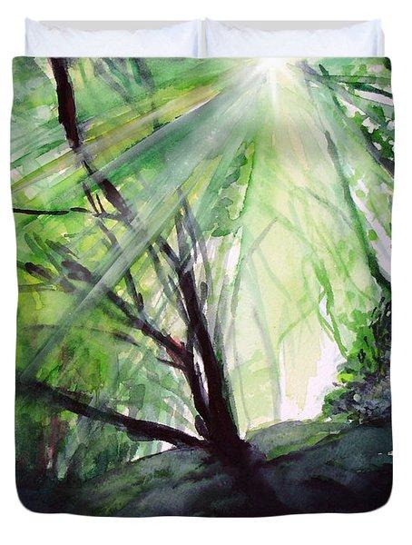 Sunbeans Of Grace Duvet Cover